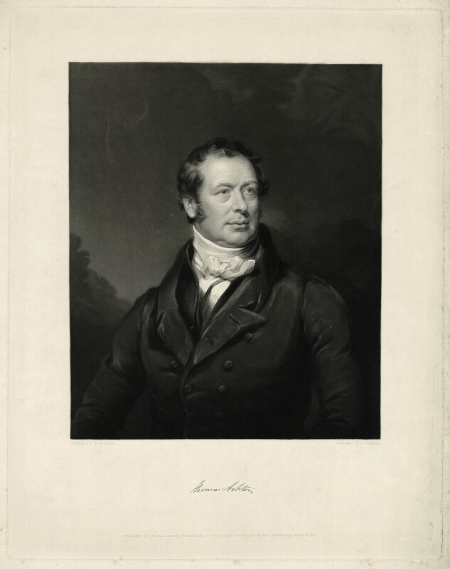 Thomas Ashton, by James Thomson (Thompson), after  William Bradley, published 1847 - NPG D7410 - © National Portrait Gallery, London