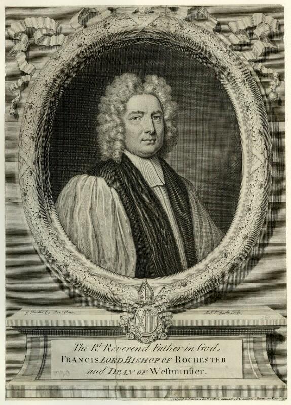 Francis Atterbury, by Michael Vandergucht, after  Sir Godfrey Kneller, Bt, (1718) - NPG D7431 - © National Portrait Gallery, London