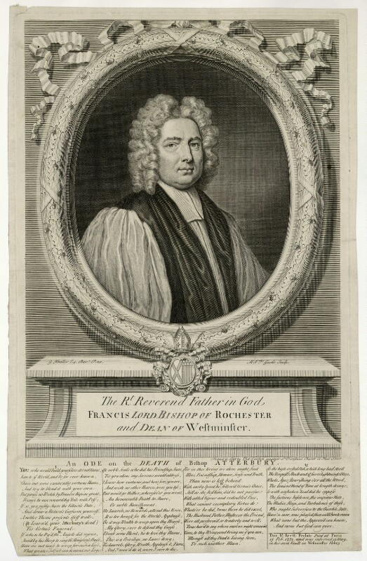 Francis Atterbury, by Michael Vandergucht, after  Sir Godfrey Kneller, Bt, 1732 or after - NPG D7433 - © National Portrait Gallery, London