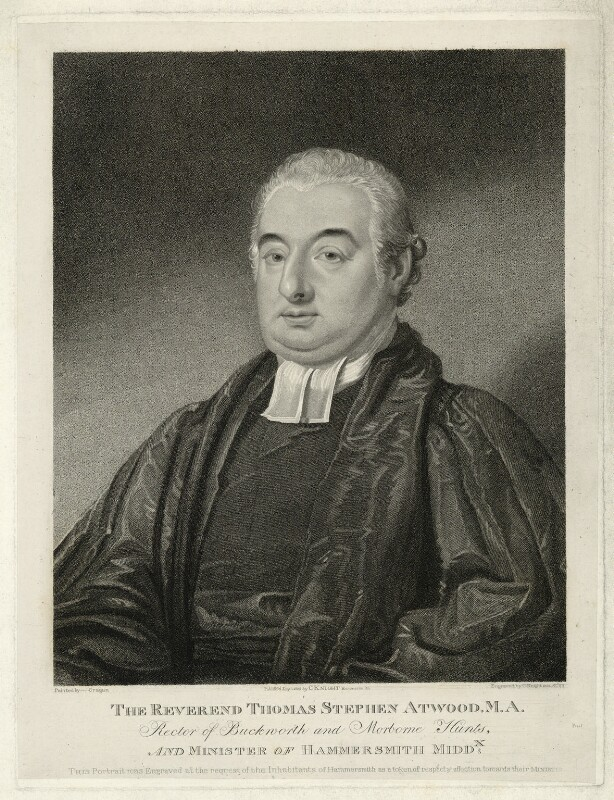 Thomas Stephen Atwood, by and published by Charles Knight, after  Martin Cregan, published 1 July 1825 - NPG D7436 - © National Portrait Gallery, London