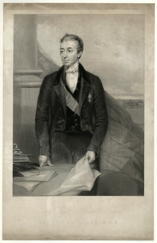 George Eden, Earl of Auckland, by James Thomson (Thompson), after  Lowes Cato Dickinson, published 1850 - NPG D7441 - © National Portrait Gallery, London