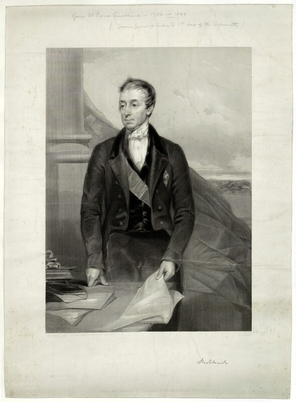 George Eden, Earl of Auckland, by James Thomson (Thompson), after  Lowes Cato Dickinson, published 1850 - NPG D7442 - © National Portrait Gallery, London