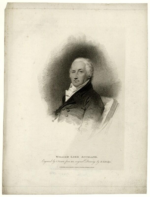 William Eden, 1st Baron Auckland, by Charles Picart, after  Henry Edridge, published 1810 - NPG D7444 - © National Portrait Gallery, London