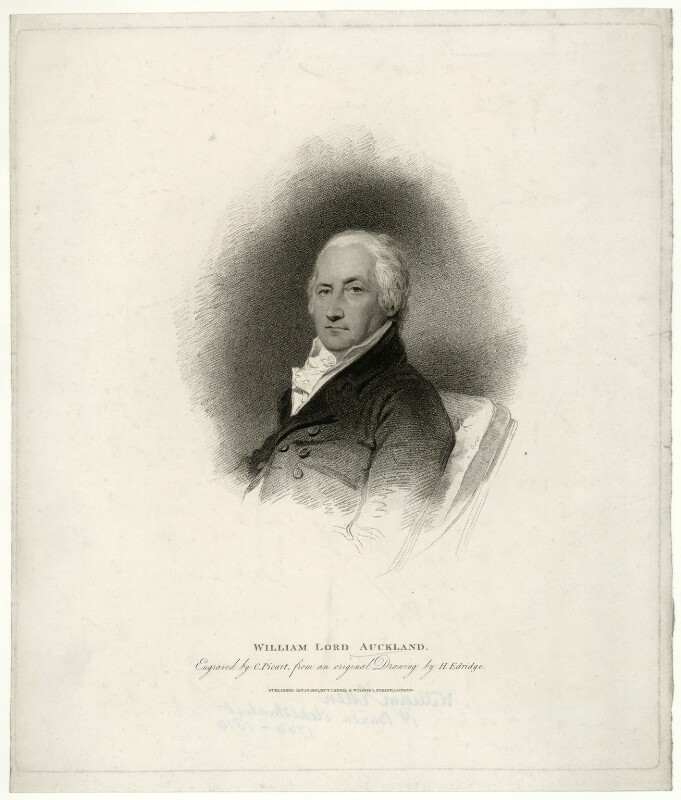 William Eden, 1st Baron Auckland, by Charles Picart, after  Henry Edridge, published 1810 - NPG D7445 - © National Portrait Gallery, London