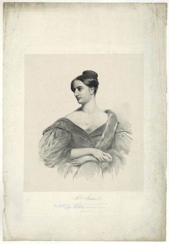 Sarah Austin (née Taylor), by (Isaac) Weld Taylor, after  Henry Perronet Briggs, published 1835 - NPG D7451 - © National Portrait Gallery, London