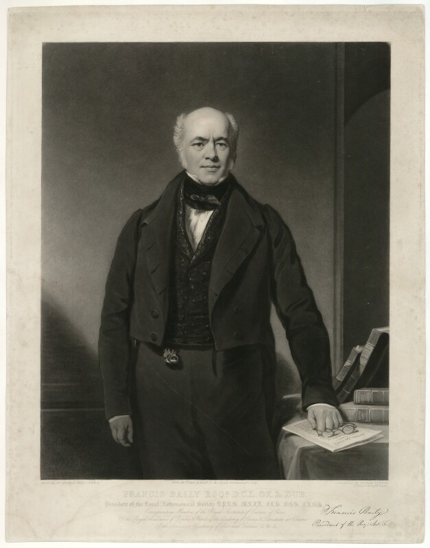 Francis Baily, by Thomas Goff Lupton, after  Thomas Phillips, (1838) - NPG D7466 - © National Portrait Gallery, London