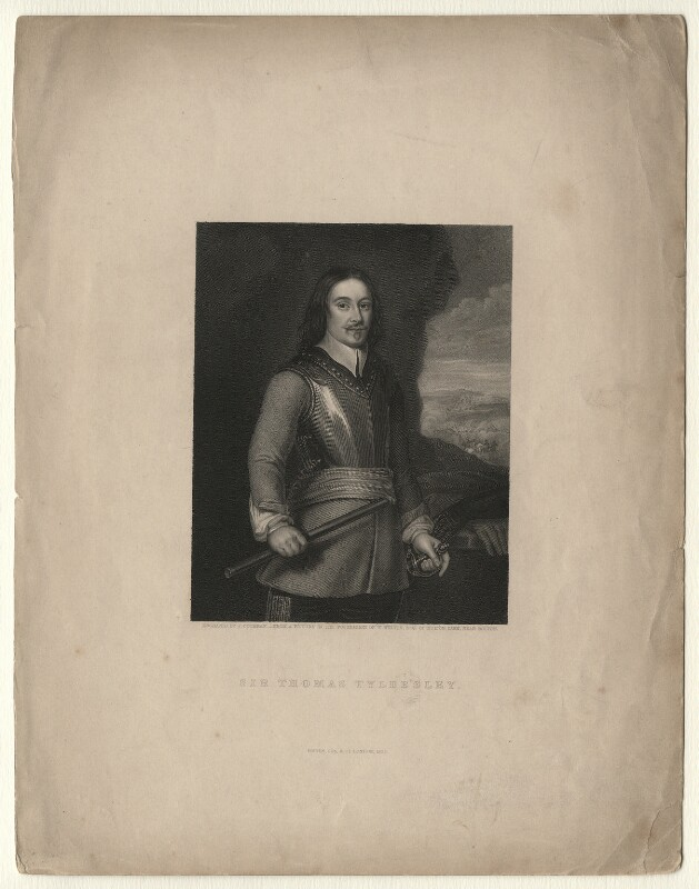 Sir Thomas Tyldesley, by John Cochran, after  Unknown artist, published 1838 - NPG D7517 - © National Portrait Gallery, London