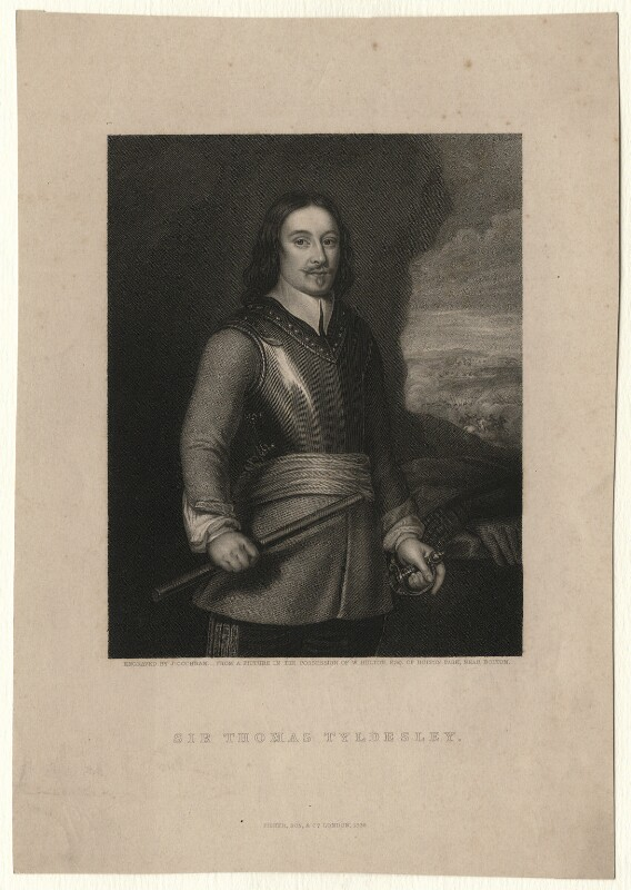 Sir Thomas Tyldesley, by John Cochran, after  Unknown artist, published 1838 - NPG D7518 - © National Portrait Gallery, London