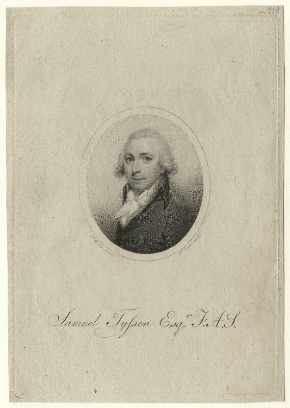 Samuel Tyssen, by William Evans, after  H. Burch, early 19th century - NPG D7521 - © National Portrait Gallery, London