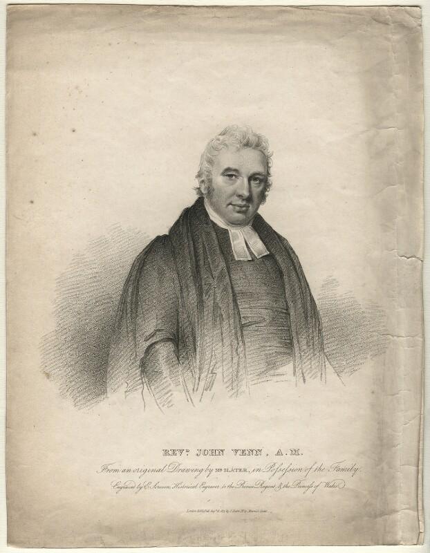 John Venn, by Edward Scriven, after  Joseph Slater, published 1813 - NPG D7531 - © National Portrait Gallery, London