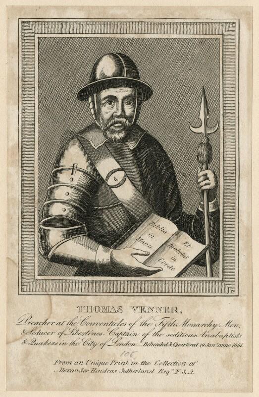 Thomas Venner, after Unknown artist, published 1813 - NPG D7532 - © National Portrait Gallery, London