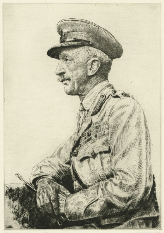 Sir Henry Hughes Wilson, 1st Bt, by John George Day, after a photograph by  George Charles Beresford, 1921 - NPG D7562 - © National Portrait Gallery, London