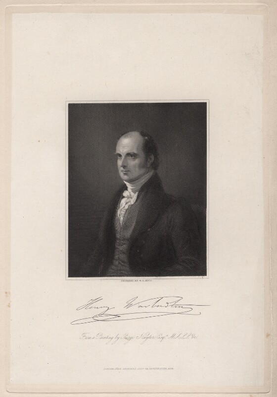 Henry Warburton, by William Henry Mote, after  Sir George Hayter, published 1840 - NPG D7565 - © National Portrait Gallery, London