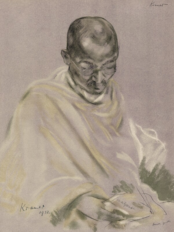 Mahatma Gandhi, after Jacob Kramer, 1932 - NPG D7574 - © William Roberts Society