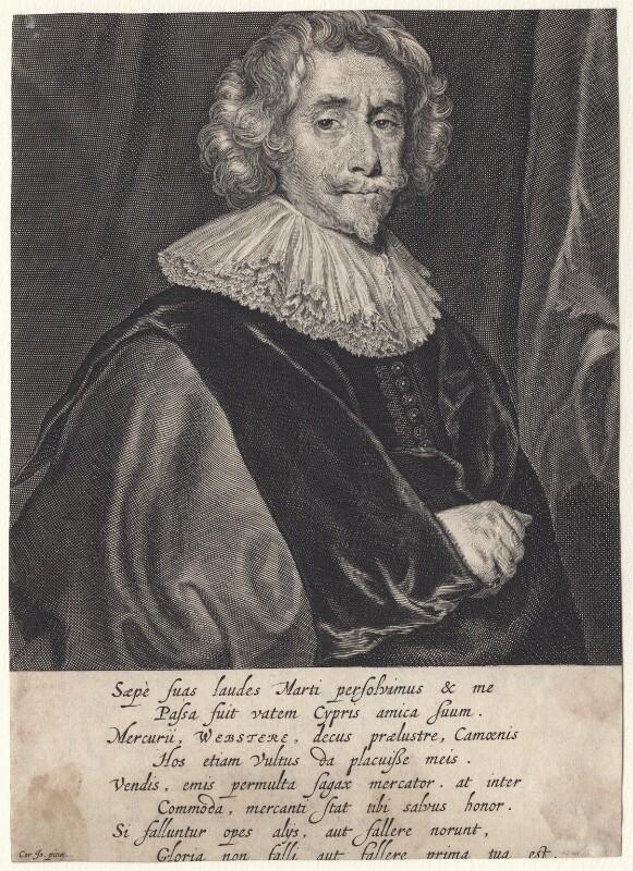 Sir John Webster, Bt, by Theodor Matham, after  Cornelius Johnson (Cornelius Janssen van Ceulen), mid 17th century - NPG D7588 - © National Portrait Gallery, London