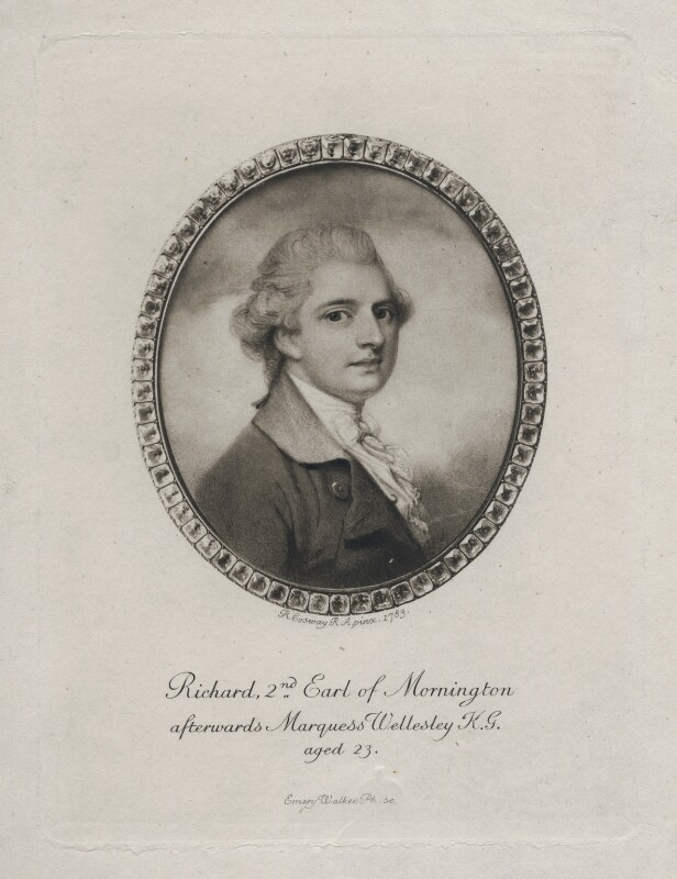 Richard Colley Wellesley, Marquess Wellesley when 2nd Earl of Mornington, by Sir Emery Walker, after  Richard Cosway, late 19th-early 20th century (1783) - NPG D7595 - © National Portrait Gallery, London