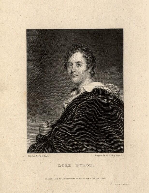 George Gordon Byron, 6th Baron Byron, by Francis Engleheart, after  William Edward West, published 1827 - NPG D7607 - © National Portrait Gallery, London