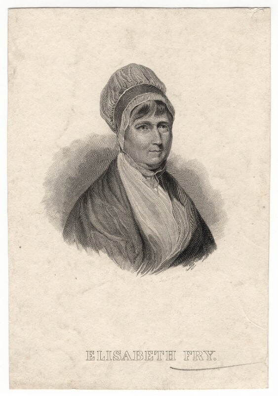 Elizabeth Fry, probably by Auguste Thomas Marie Blanchard, after  Charles Robert Leslie, (1823) - NPG D7613 - © National Portrait Gallery, London