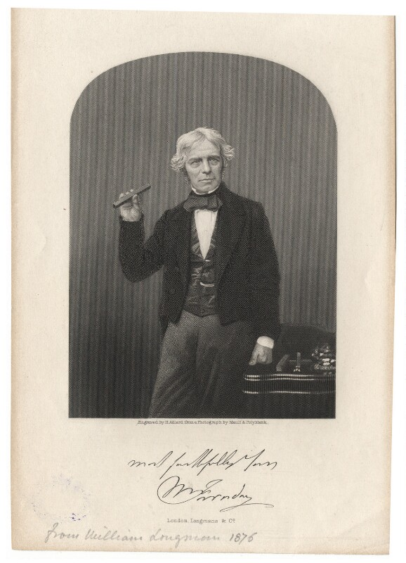 Michael Faraday, by Henry Adlard, after a photograph by  Maull & Polyblank, 1856-1869 - NPG D7614 - © National Portrait Gallery, London