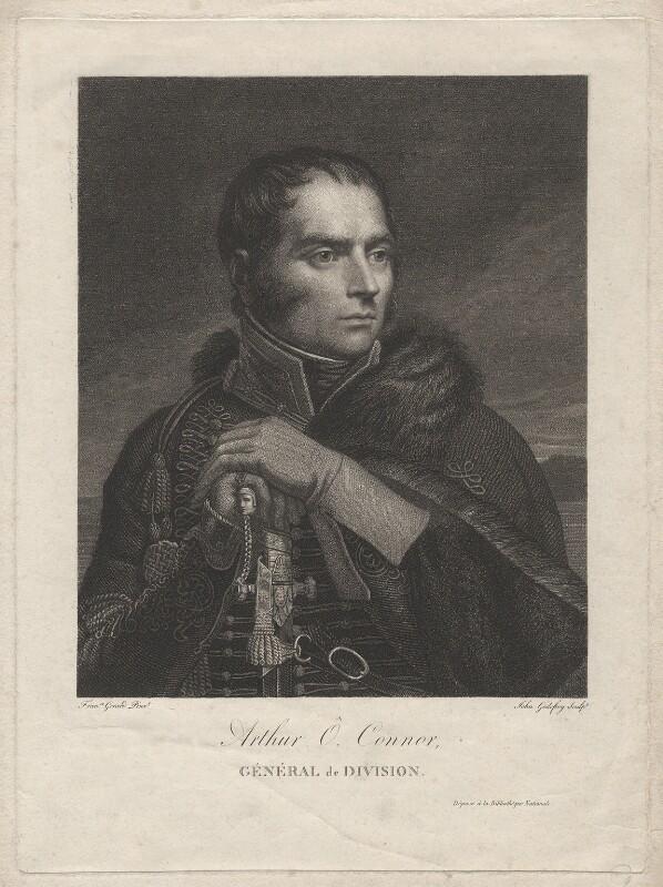 Arthur O'Connor, by John Godefroy, after  François Pascal Simon, Baron Gérard, early 19th century - NPG D7675 - © National Portrait Gallery, London