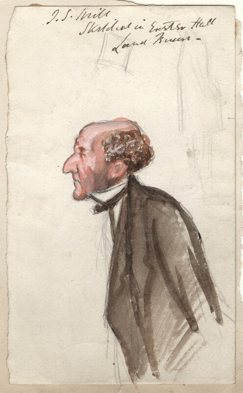 John Stuart Mill, by Sir Leslie Ward, study for drawing published in Vanity Fair 29 March 1873 - NPG D7685 - © National Portrait Gallery, London