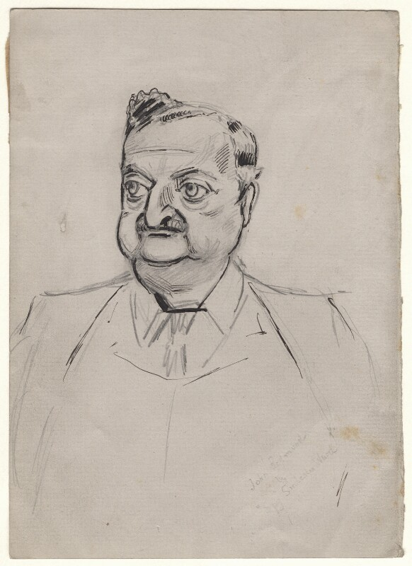 John Edward Redmond, by Sir Leslie Ward, study for drawing published in Vanity Fair 7 July 1904 - NPG D7694 - © National Portrait Gallery, London