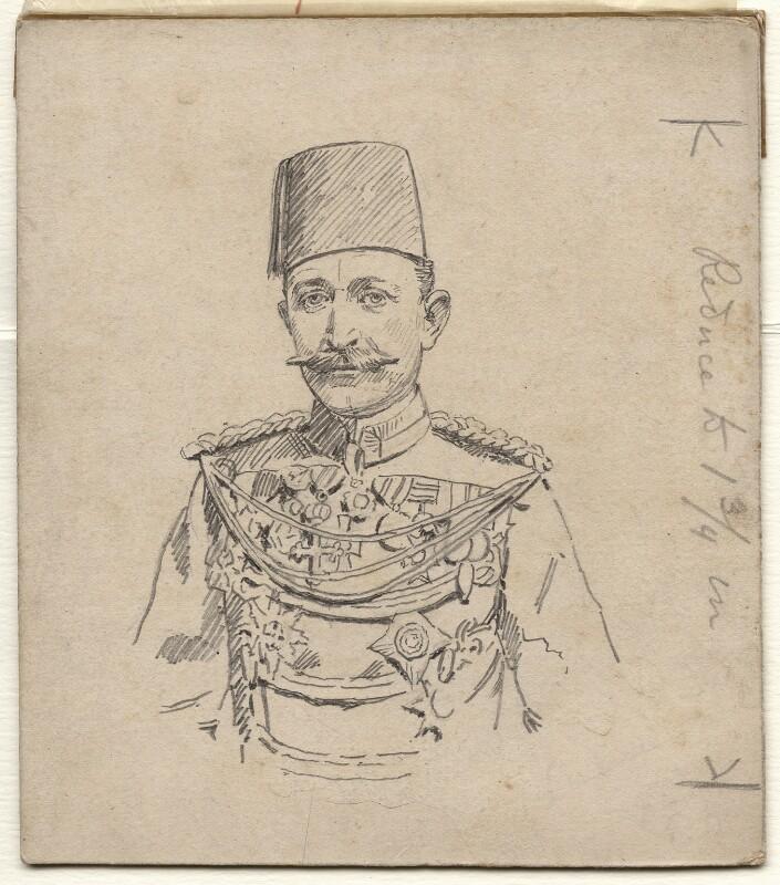 Sir Francis Reginald Wingate, 1st Bt, by Sir Leslie Ward, 1890s - NPG D7704 - © National Portrait Gallery, London