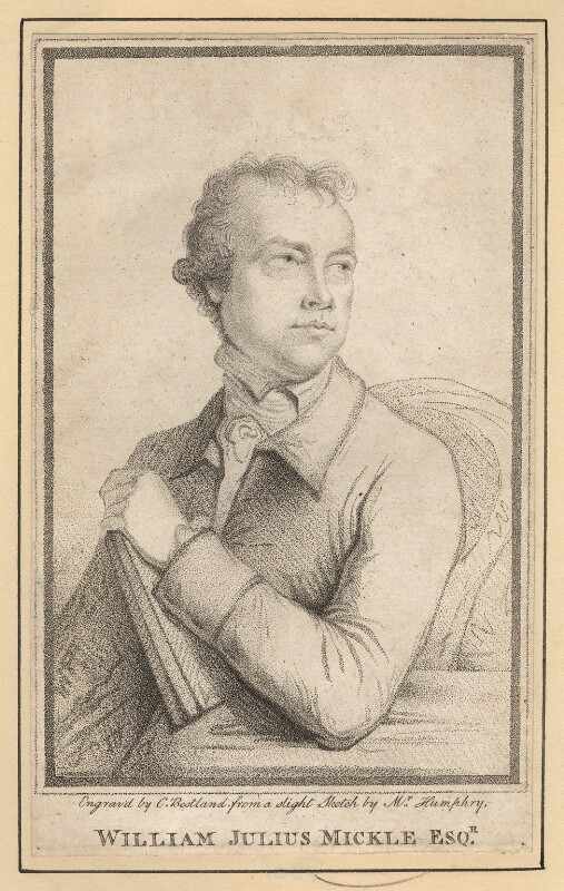 William Julius Mickle, by Charles (Cantelowe, Cantlo) Bestland, after  Ozias Humphry, published 1789 - NPG D7709 - © National Portrait Gallery, London