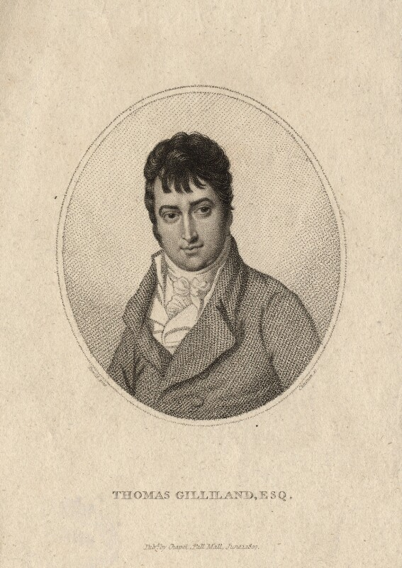 Thomas Gilliland, by Thomas Cheesman, published by  Clement Chapple, after  Samuel De Wilde, published 1 June 1807 - NPG D7720 - © National Portrait Gallery, London