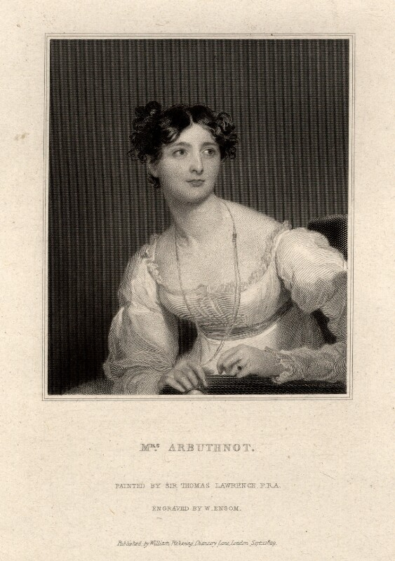 Harriet Arbuthnot (née Fane), by William Ensom, after  Sir Thomas Lawrence, published 1830 - NPG D7729 - © National Portrait Gallery, London