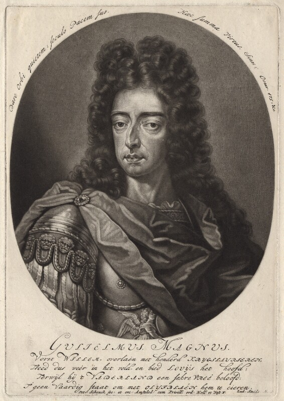 King William III, by Pieter Schenck, after  Unknown artist, probably late 17th century - NPG D7751 - © National Portrait Gallery, London