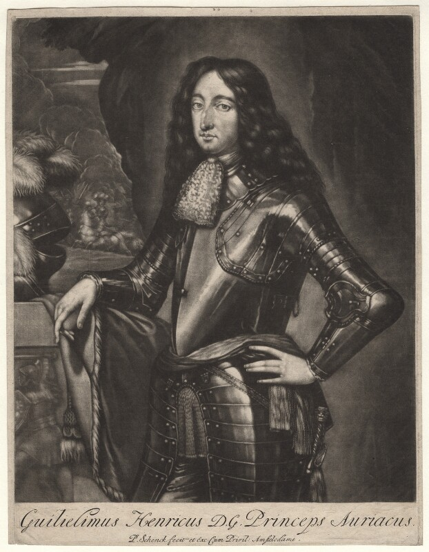 King William III when Prince of Orange, by Pieter Schenck, after  Unknown artist, probably late 17th century - NPG D7752 - © National Portrait Gallery, London