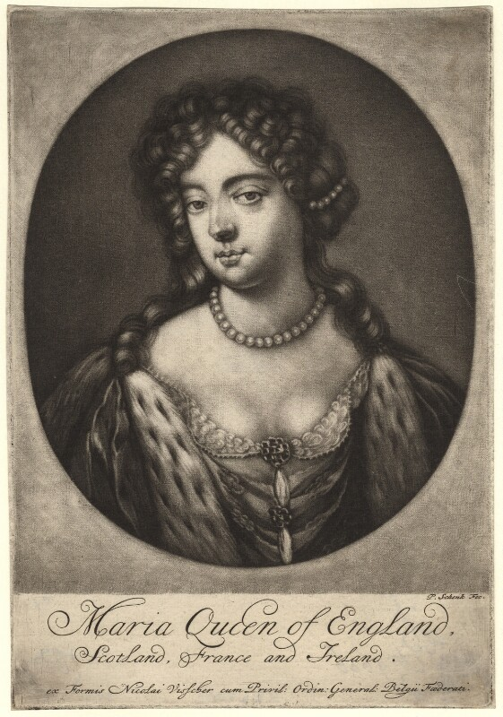 Queen Mary II, by Pieter Schenck, published circa 1675-1700 - NPG D7761 - © National Portrait Gallery, London