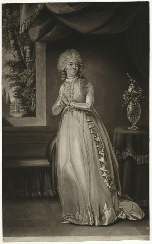 Tryphosa Jane Wallis (later Campbell), by Joseph Grozer, after  John Graham, 1790s - NPG D7774 - © National Portrait Gallery, London