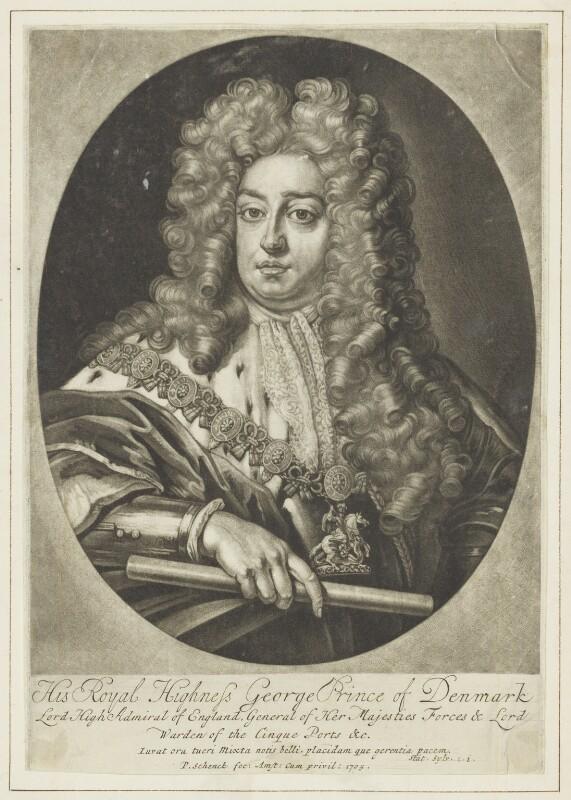 Prince George of Denmark, Duke of Cumberland, by Pieter Schenck, after  Sir Godfrey Kneller, Bt, 1705 - NPG D7782 - © National Portrait Gallery, London
