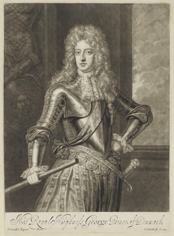 Prince George of Denmark, Duke of Cumberland, by John Smith, after  Sir Godfrey Kneller, Bt, 1692 (circa 1690) - NPG D7785 - © National Portrait Gallery, London