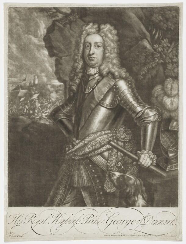 Prince George of Denmark, Duke of Cumberland, published by Bowles & Carver, after  Jacob Huysmans, after 1793 - NPG D7786 - © National Portrait Gallery, London