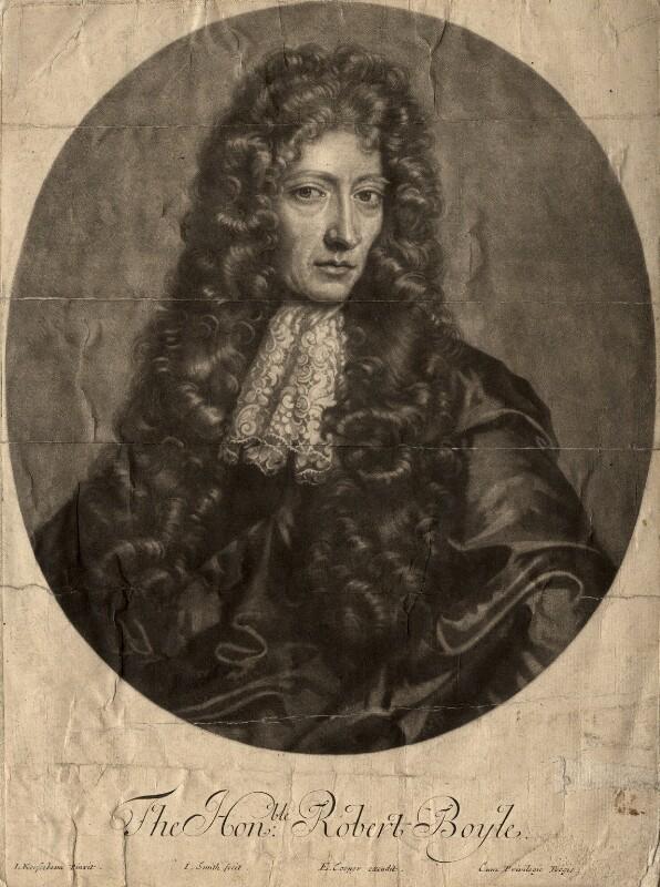 Robert Boyle, by John Smith, after  Johann Kerseboom, 1689 (1689) - NPG D781 - © National Portrait Gallery, London