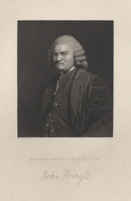 Sir John Pringle, Bt, by William Henry Mote, after  Sir Joshua Reynolds, mid 19th century - NPG D7822 - © National Portrait Gallery, London