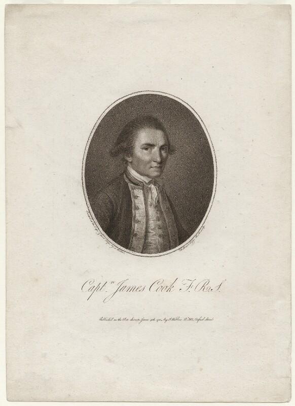 James Cook, by Francesco Bartolozzi, after  John Webber, published 1784 (1776) - NPG D7854 - © National Portrait Gallery, London