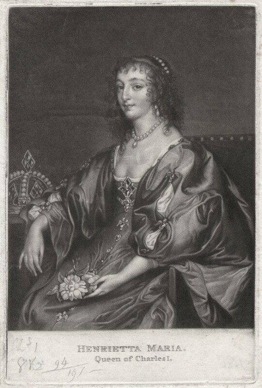 Henrietta Maria, after Sir Anthony van Dyck, (1630s) - NPG D7877 - © National Portrait Gallery, London
