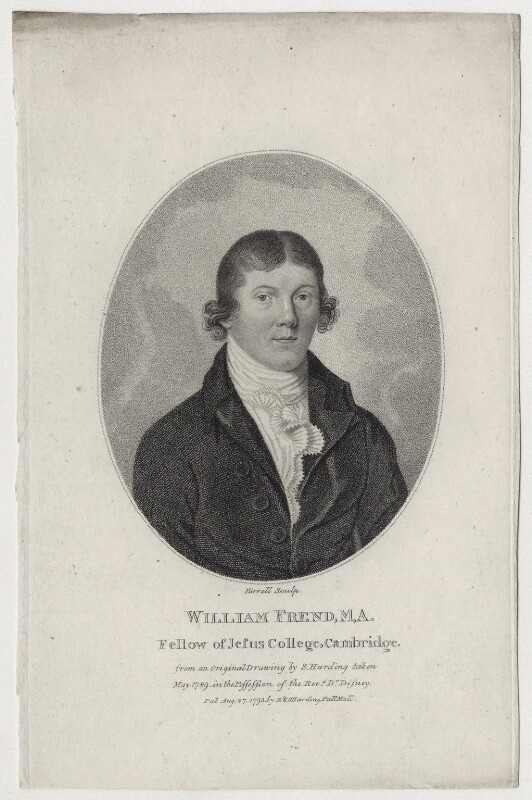 William Frend, by Andrew Birrell, after  Silvester (Sylvester) Harding, published 1793 - NPG D7887 - © National Portrait Gallery, London