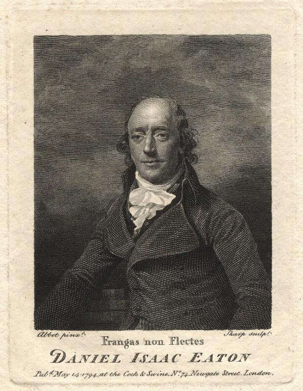Daniel Isaac Eaton, by William Sharp, after  Lemuel Francis Abbott, published 1794 - NPG D7888 - © National Portrait Gallery, London