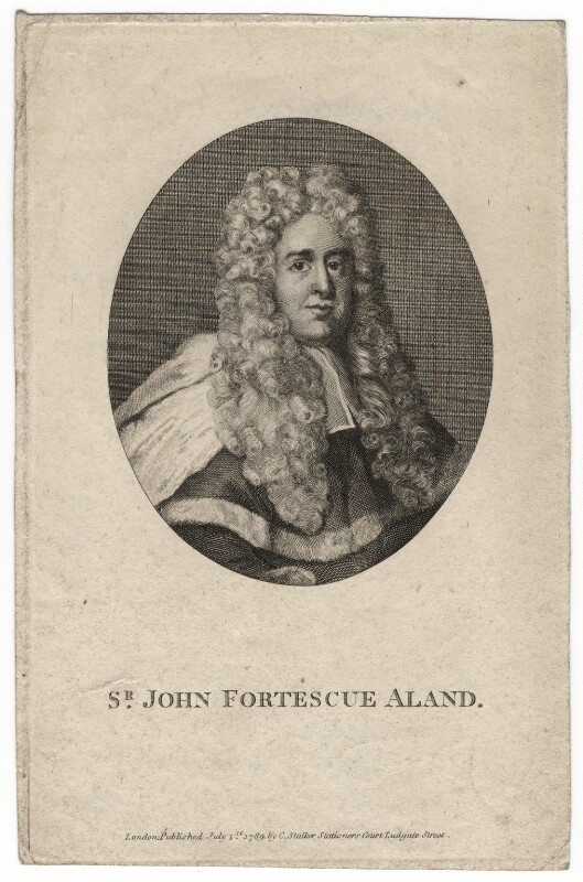 John Fortescue-Aland, Baron Fortescue of Credan, after Unknown artist, published 1789 - NPG D7893 - © National Portrait Gallery, London