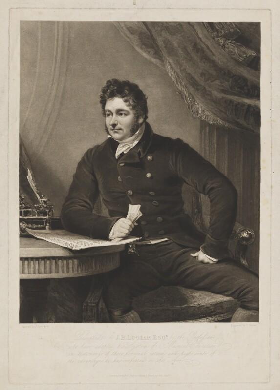 Johann Bernhard Logier, by Charles Turner, published by  John Green, after  James Lonsdale, published 20 July 1819 - NPG D7896 - © National Portrait Gallery, London
