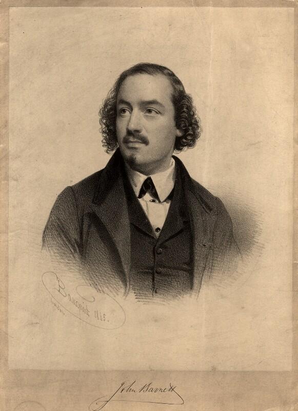John Barnett, by Charles Baugniet, mid 19th century - NPG D7897 - © National Portrait Gallery, London