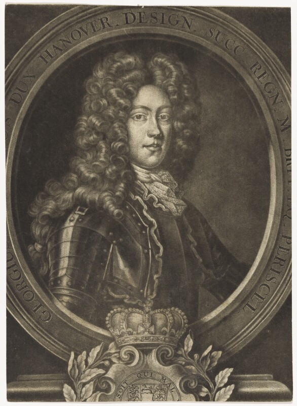 King George II when Prince of Hanover, after Unknown artist, before 1714 - NPG D7905 - © National Portrait Gallery, London