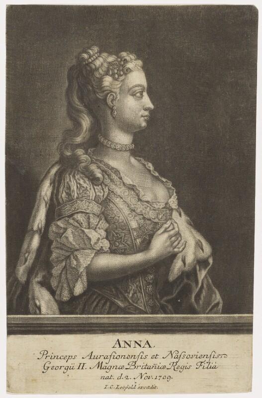 Anne, Princess Royal and Princess of Orange, after Philip Mercier, 1734 or after - NPG D7948 - © National Portrait Gallery, London