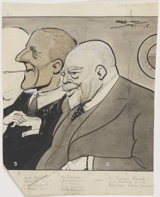 Frank Charlton; Thomas Rome, by Fred May, published 22 May 1935 - NPG D7980 - © National Portrait Gallery, London