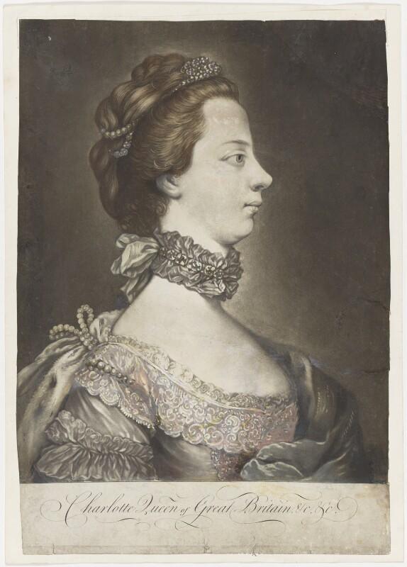 Sophia Charlotte of Mecklenburg-Strelitz, after Unknown artist, circa 1762 - NPG D8008 - © National Portrait Gallery, London